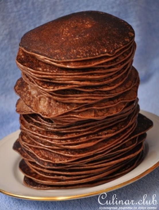 Рецепт блинов с шоколадом с фото