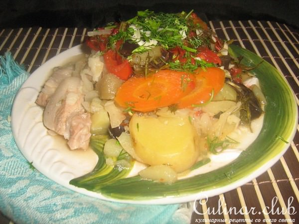 Домляма с курицей рецепт с фото