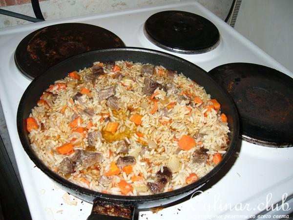 Плов рецепт в домашних условиях на сковороде