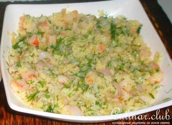 Кальмары с рисом рецепты приготовления с фото