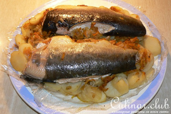 Рыба рецепты в духовке на овощной подушке