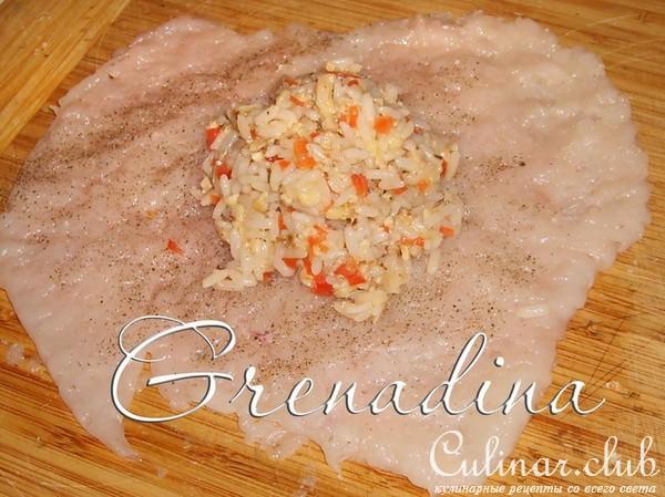 Куриная грудка с рисом в духовке рецепт