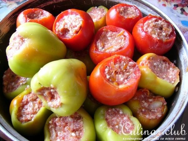 Фаршированный перец без томата рецепт фото