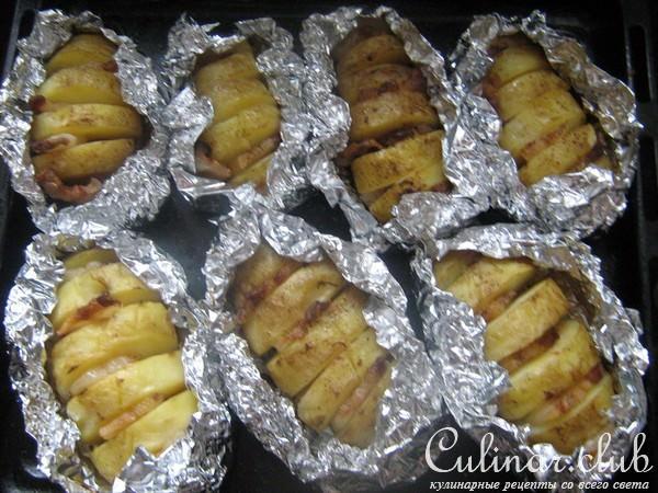 Картошка-гармошка рецепт с фото пошагово
