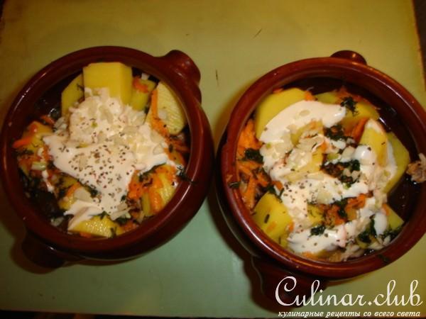 Голени в горшочках с картошкой в духовке пошаговый рецепт с