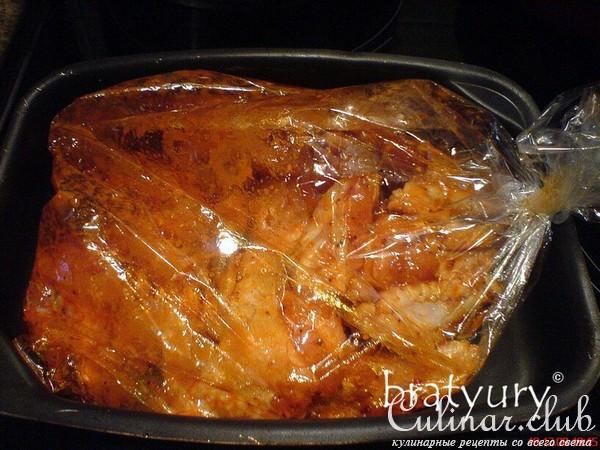 Крылышки в духовке в пакете рецепт