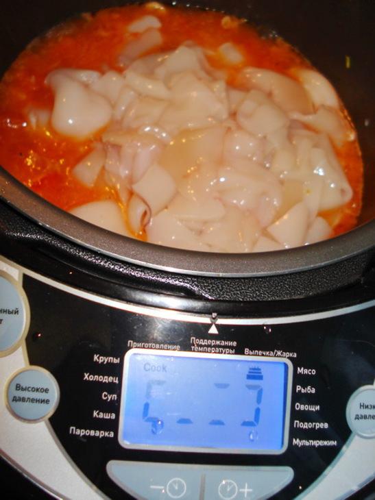 Блюда из кальмаров в мультиварке рецепт с фото очень вкусный