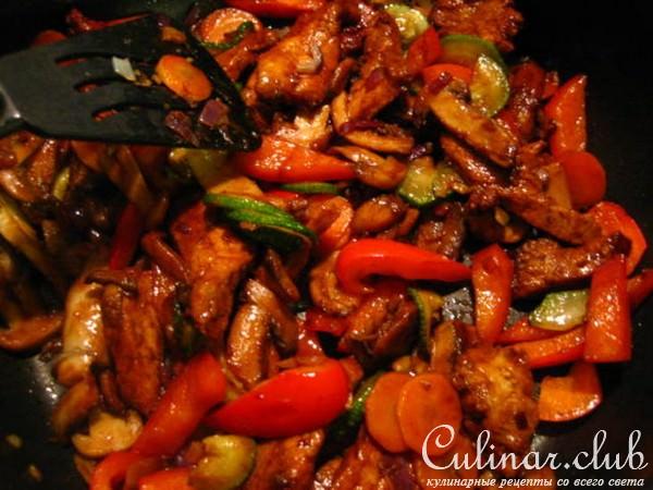 мясо свинина с овощами рецепты с фото