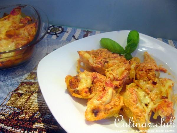 Ракушки с мясом рецепт с фото
