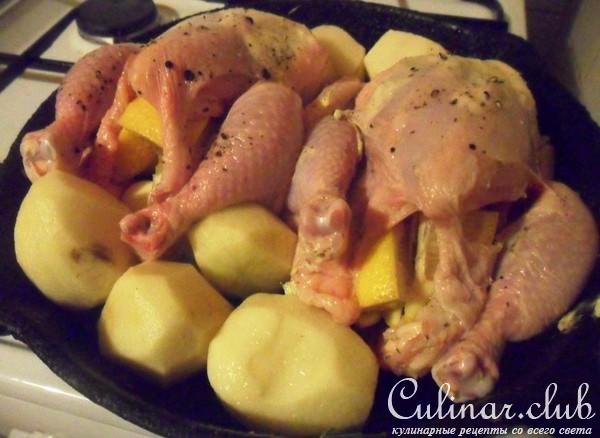 цыплята корнишоны рецепты в духовке с
