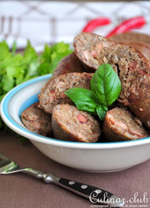 Печёночная колбаса с гречкой в домашних условиях