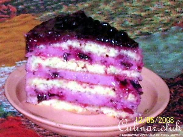 Рецепты тортов с черной смородиной