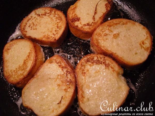 Гренки с яйцом и молоком и сыром рецепт пошагово
