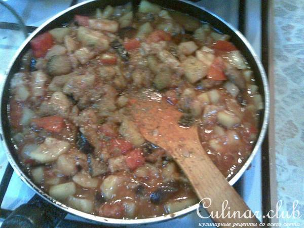 Рагу из баклажанов рецепт с фото пошагово