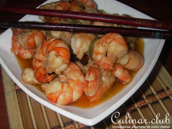 Креветки в соусе терияки рецепт с фото