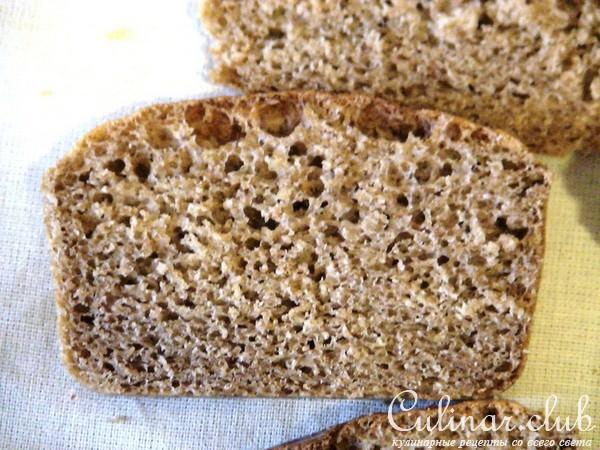 Рецепт хлеба цельнозернового с отрубями