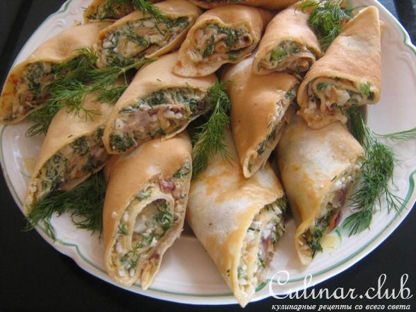 Салат с блинами рецепт с фото