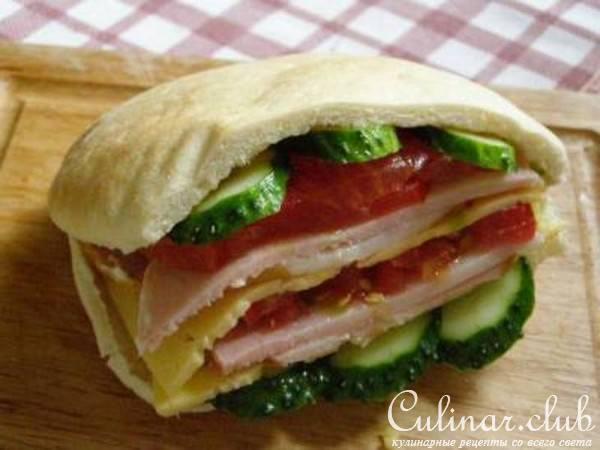Бутерброд в пите рецепт с фото