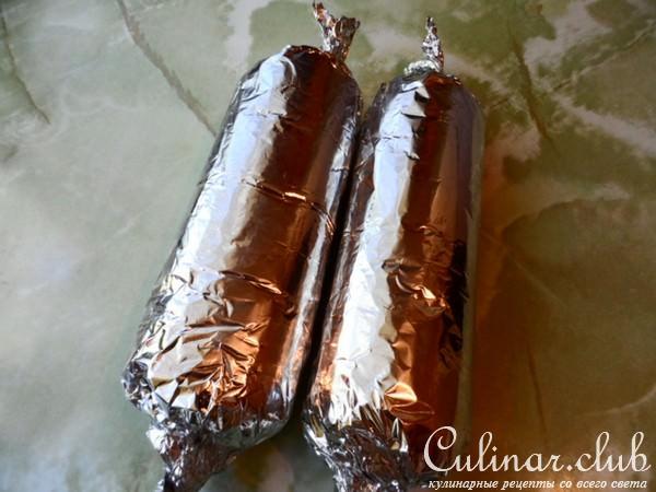 Домашняя колбаса в фольге фото рецепт