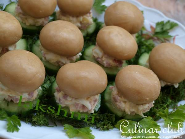 закуски из грибов рецепты фото