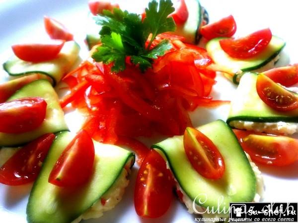 Холодные закуски с фото из овощей