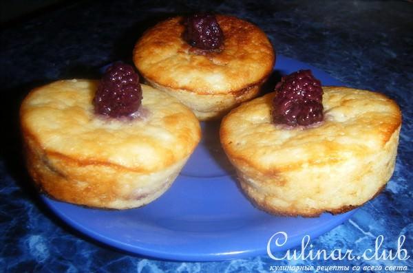 кексы с творогом сверху рецепт с фото