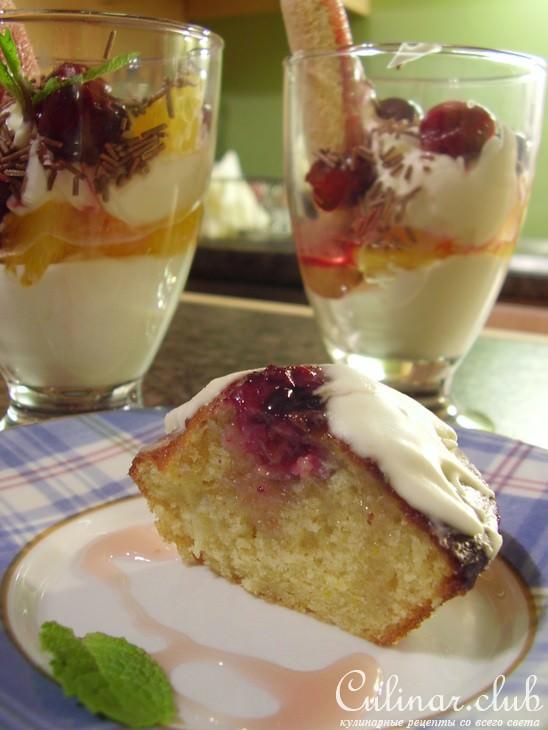 творожный кекс с вишней в мультиварке рецепты