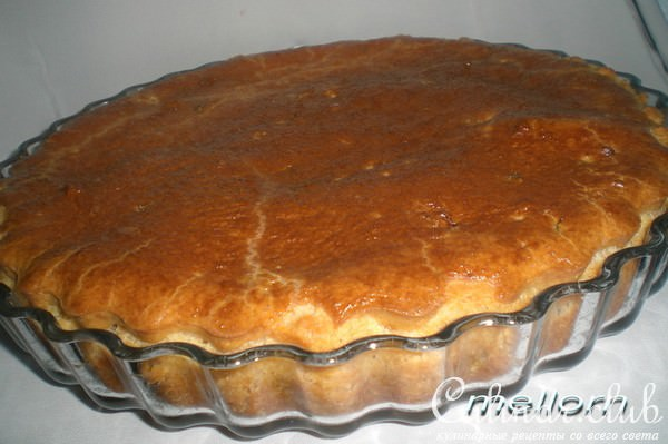 рыбный пирог с рисом фото рецепт