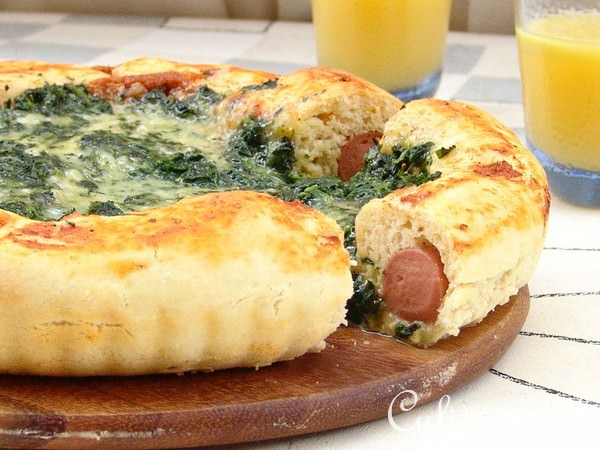 пирог с шпинатом рецепт с фото