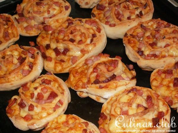 Пиццы розочки рецепт