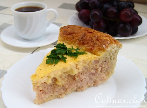 Пирог к завтраку рецепт с фото