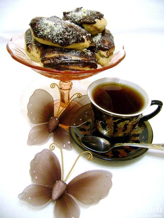Шоколадная глазурь для эклеров рецепт с фото