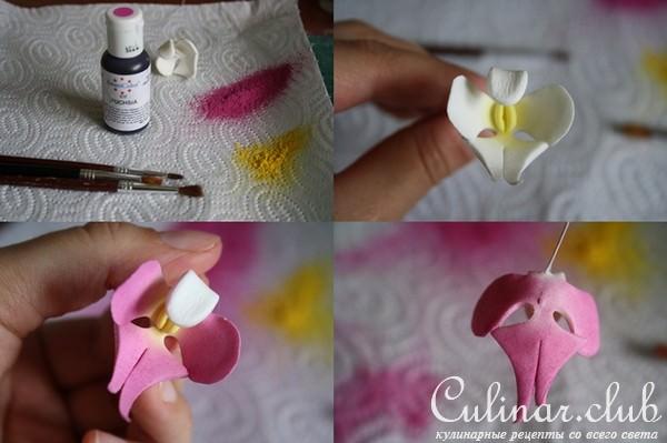 Как сделать цветы из сахарной мастики в домашних 286