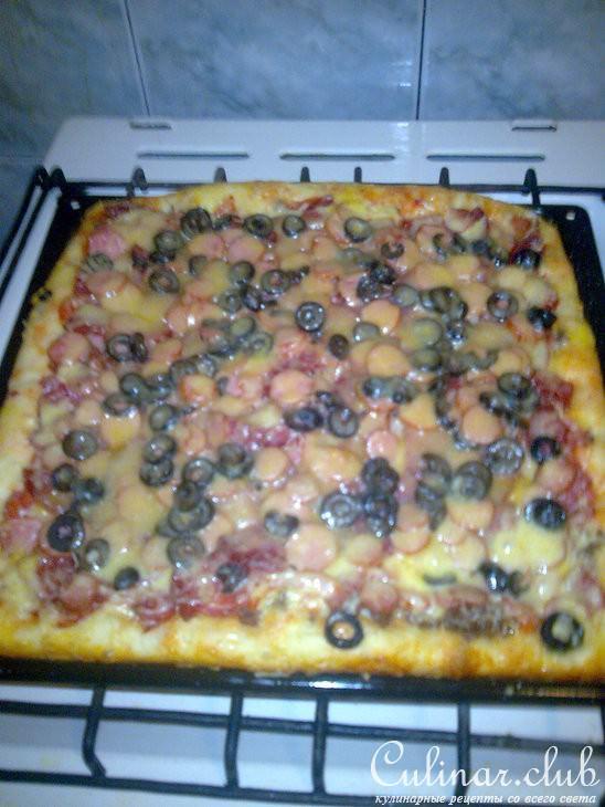 легкий рецепт пиццы в духовке фото