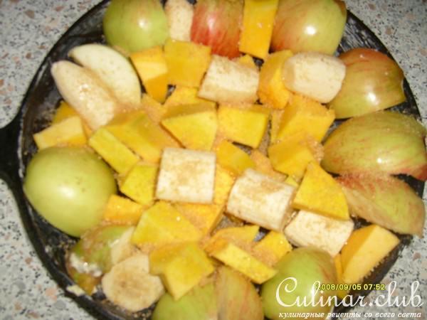 Тыква запеченная с фруктами рецепт