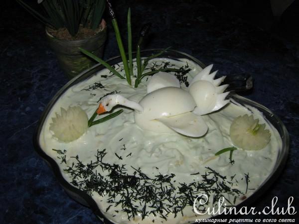 Салат белый лебедь рецепт с фото пошагово