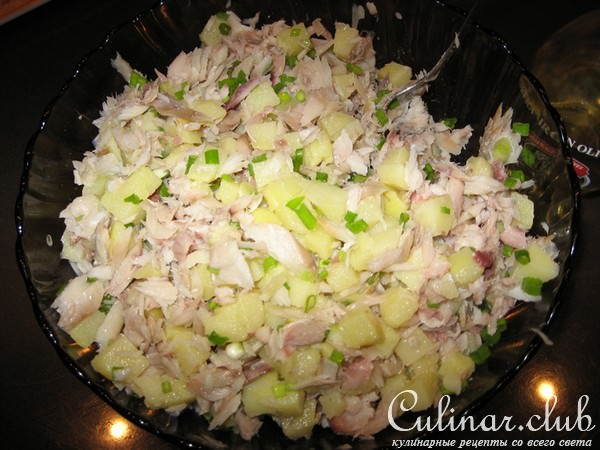 салат из копченой трески рецепт с фото