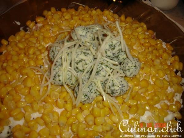 Салат гнездо перепелки рецепт с фото
