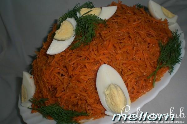 Салаты с корейской морковью и ветчиной рецепты простые