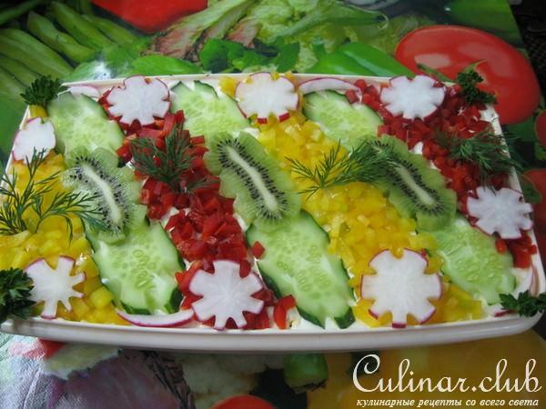 Красивые и вкусные салаты с фото к 2013 году