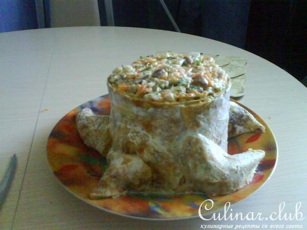 Салат грибной пенек рецепт пошаговый