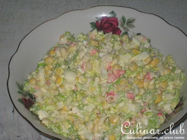 Салати з крабових палочок фото