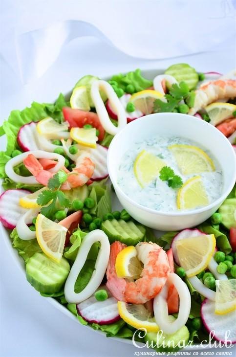 Заправка для салата с морепродуктами рецепт