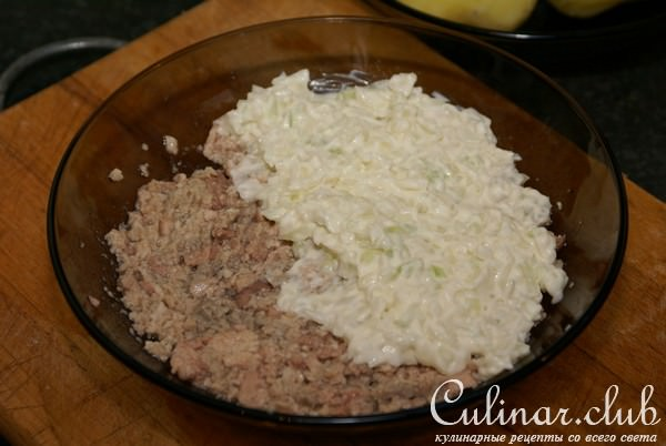Салат из печени трески по мурмански рецепт
