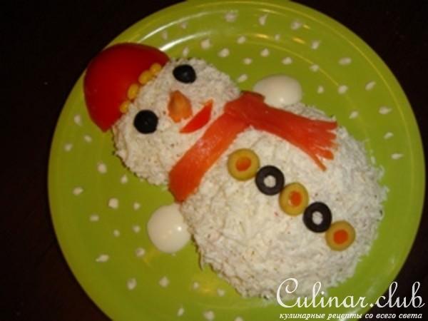 Салат снеговик рецепт с фото