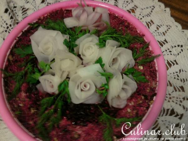 Салат невеста пошаговое