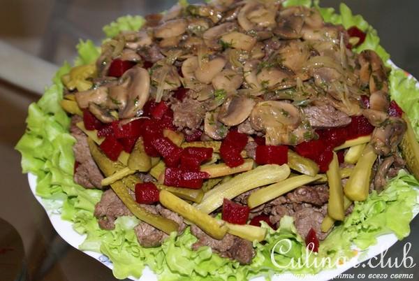 Самые вкусные салаты рецепты пошагово с говядиной