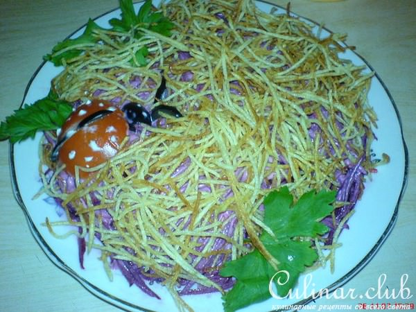 Фото салата муравейник