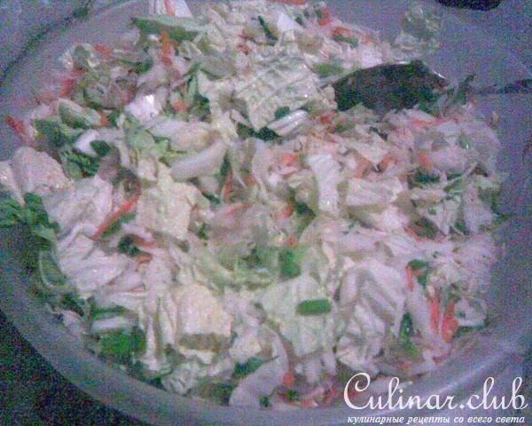 Нежный салат с черной редькой