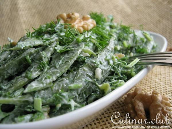 салат из зеленой фасоли с фото